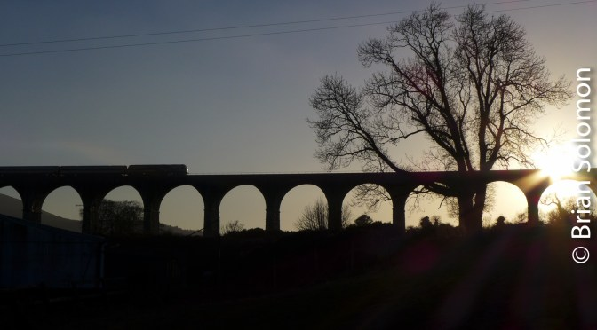 Sunset at Craigmore Viaduct.