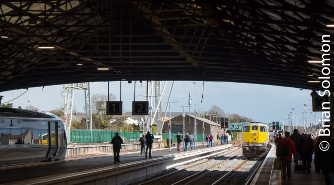 Irish Rail 074 at Limerick; A study in contrast—Four New Photos.