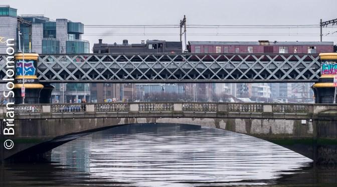 Steam Crosses Dublin's Loop Line.