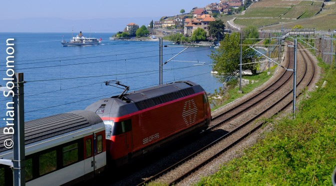 One Year Ago: SBB on a Clear April Morning Along Lake Geneva.