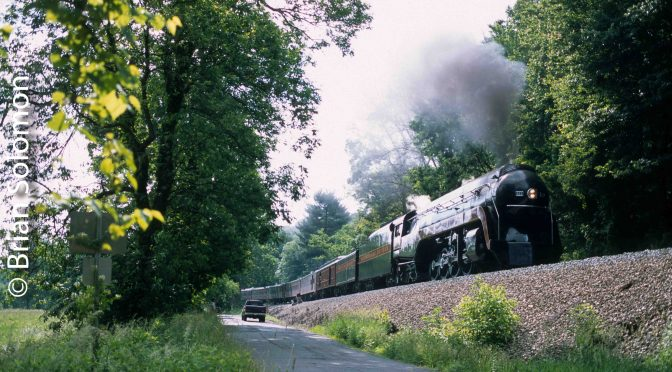On this day, June 6, 2015, I photographed Norfolk & Western 611 Under Steam.
