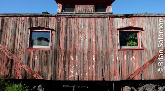 Nature and the Old Caboose.