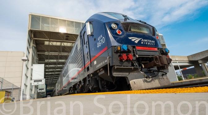 Modern American Railroading in Soft Light.