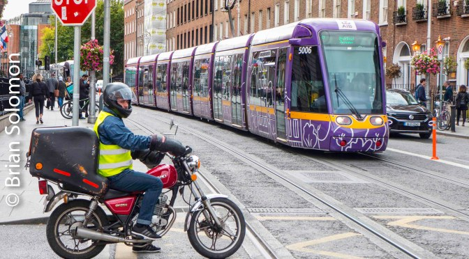Purple Tram Harcourt Street.
