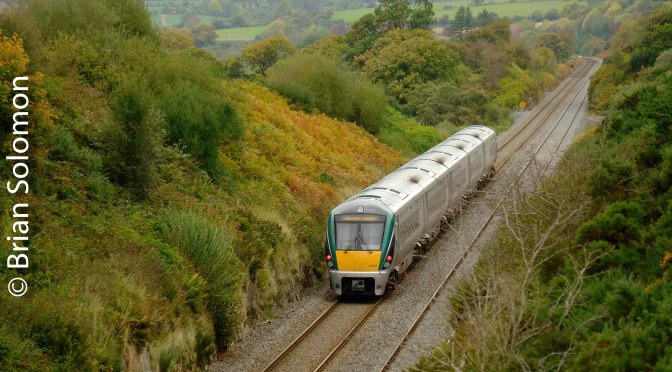 Irish Rail and Autumn Colours in County Cork