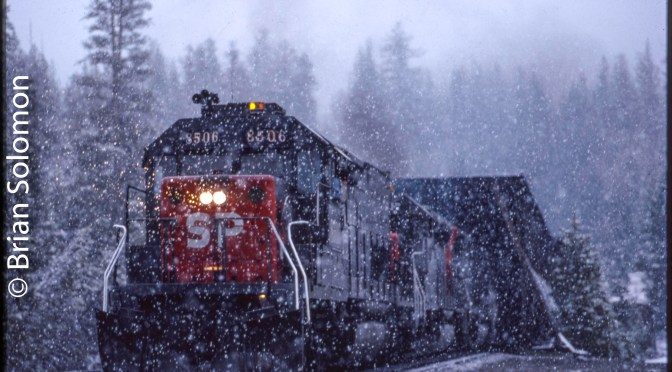 Cover Photo: Southern Pacific on Donner Pass in 1991.