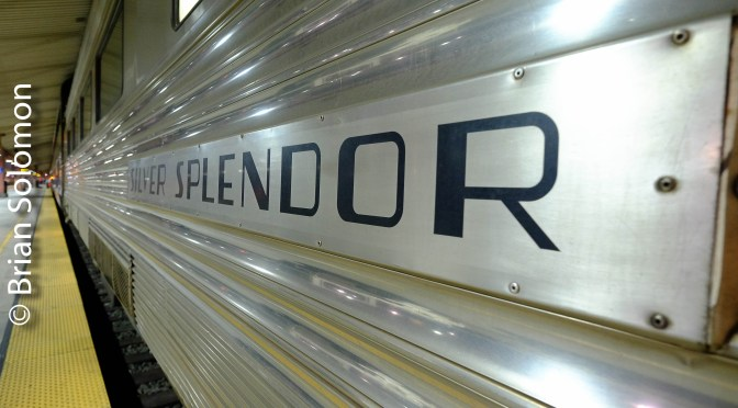 Silver Splendor at Los Angeles Union Heading East on Number Four.