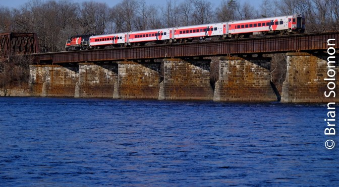 Rolling Across the Connecticut River: CT Rail 4405 in Color!