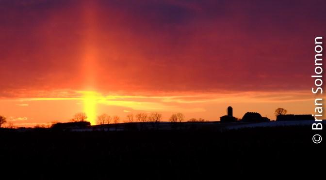 Wisconsin Sunset—drop under light.