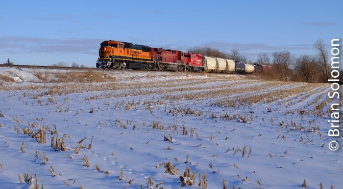 In the Shadow of the Hiawatha: CP Rail's Former Milwaukee Road at Wyocena.