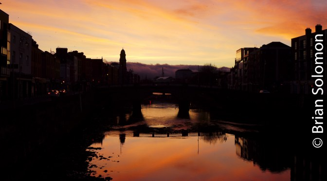 Bloody-Red Liffey Sunrise.