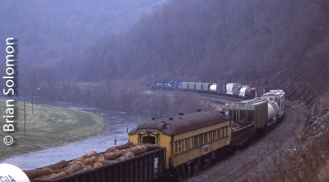 Misty Morning at Spruce Creek, Pennsylvania, April 1, 1988.