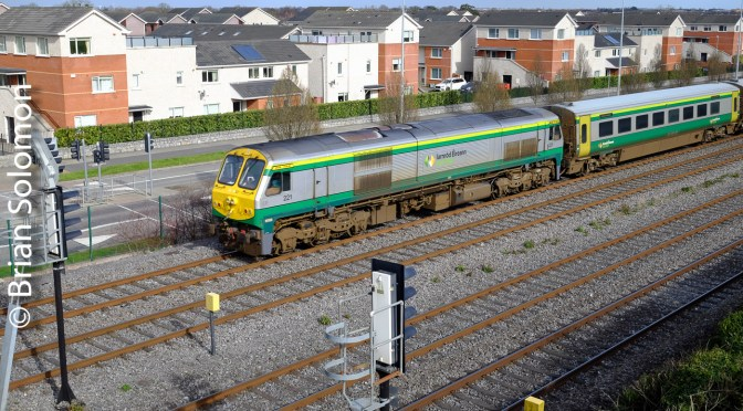 Irish Rail Quad Track at Lucan South‑Sun, Cloud and Trains!
