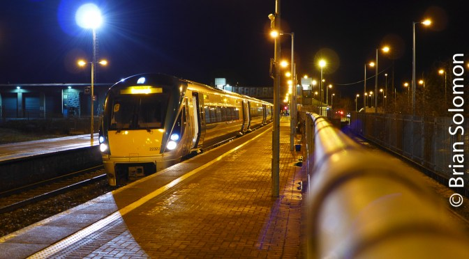 Irish Rail: Thurles, County Tipperary at Night.