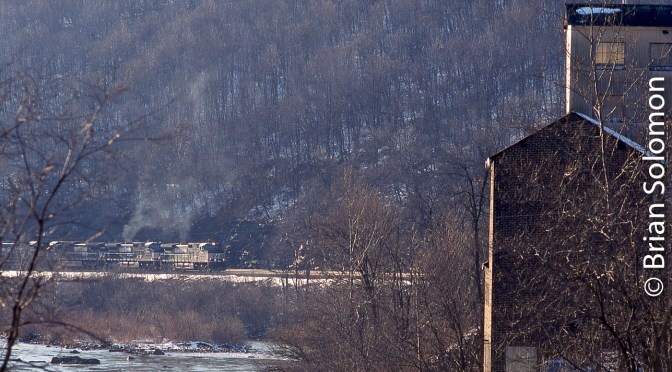 Norfolk Southern on the West Slope at South Fork, Pennsylvania—March 10, 2001.
