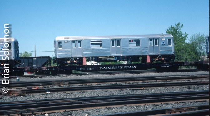 Classic Chrome: New New York City R-62A Subway Cars on Conrail—May 1986.