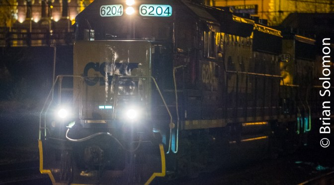 Miracles of Digital Photography: CSX Local at Night.