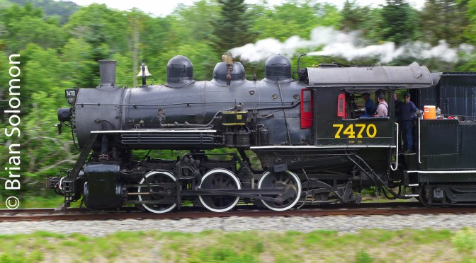 Steam on the Move at Fabyans, New Hampshire.