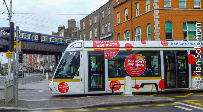 Curious Convergence—TESCO Tram and RPSI Cravens In Dublin