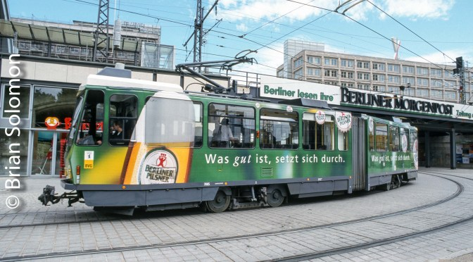 Berlin Beer Ad Tram