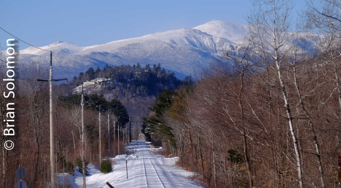 Looking toward Mount Washington—three photos.