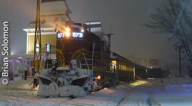Snow Train Day and Night