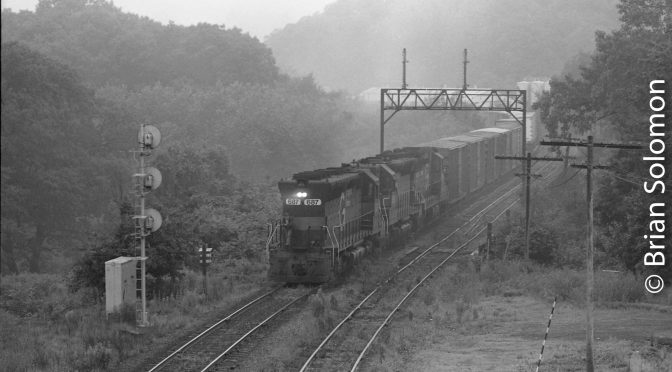 An SD45 Emerges from the Mists of Time.