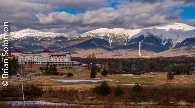 Mount Washington Hotel with a Big Sky.