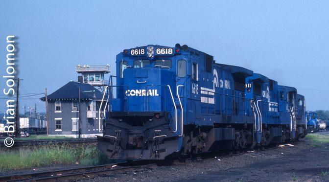 Conrail C32-8s August 13, 1988.
