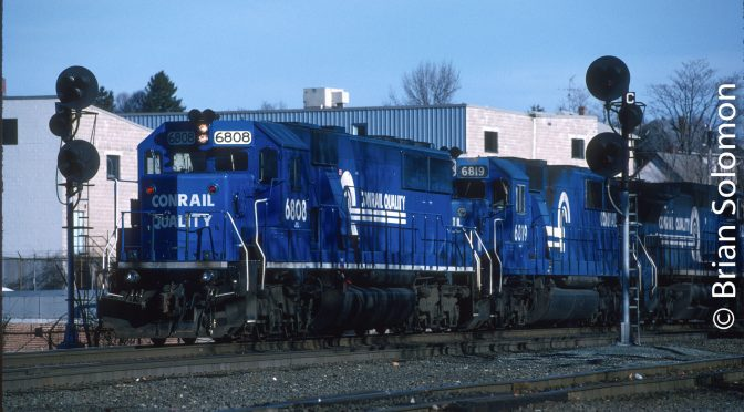Conrail in Worcester—1997.