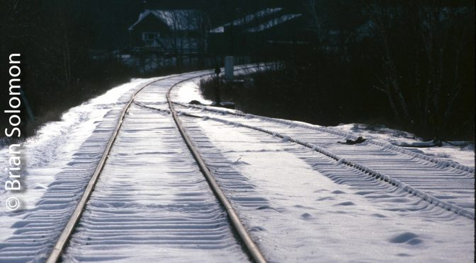 Snow on the Tracks, Lincoln, Maine.