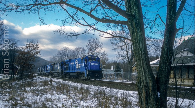Conrail at Warren, Massachusetts.