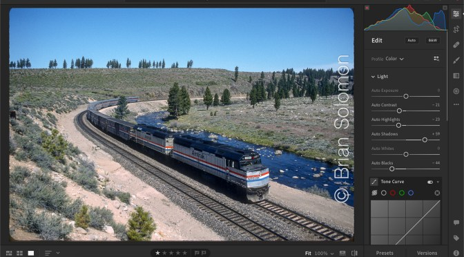 Amtrak's California Zephyr along the Truckee River
