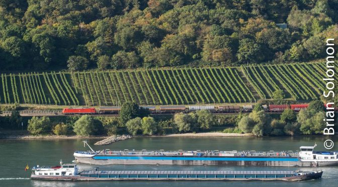 Rail Freight and River Freight—Rhein Gorge 2019