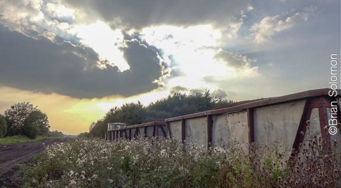 Sunburst near Shannonbridge—13 September 2014.