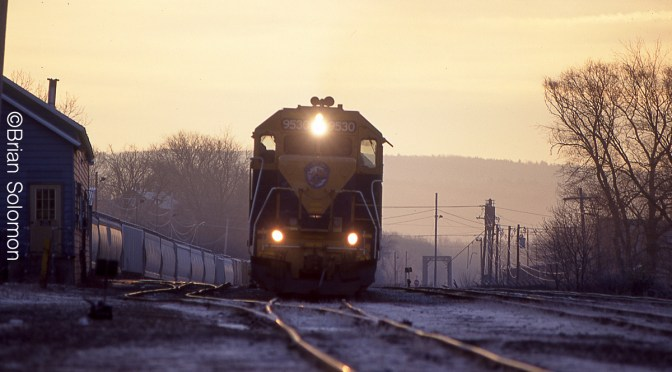 New England Central on a Frosty morning.