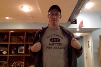Author Brian Staveley in Kettral Athletic Gear