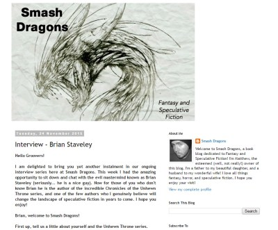 Interview with Brian Staveley at Smash Dragons