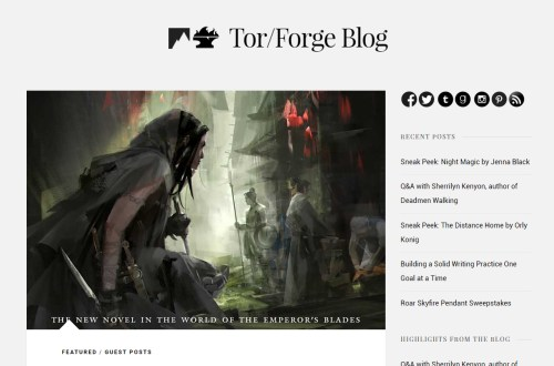 New Guest Post at the Tor/Forge Blog
