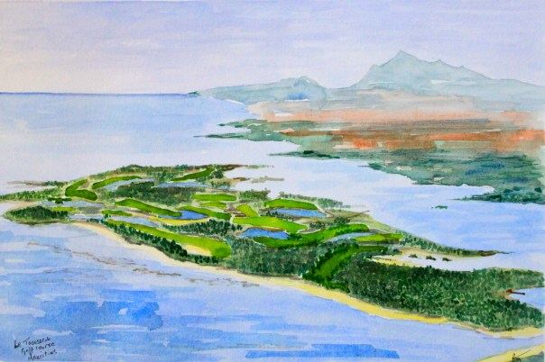 The Bernard Langer course at Le Tousserok from the air