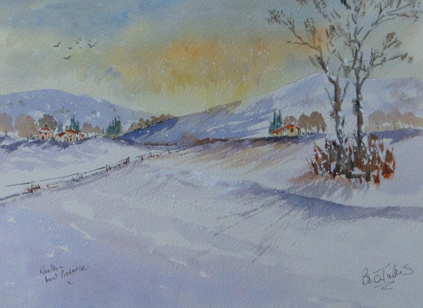 Winter in the mountains of Provence