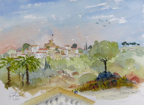 Cagnes from Renoir's former Home