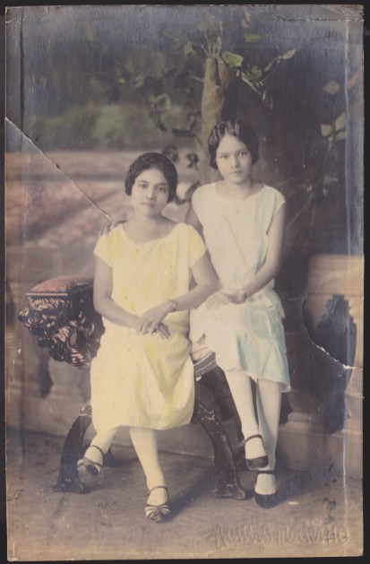 My grandmother Maria (right) and who I am sure is my great-grandmother Anding, 1920s