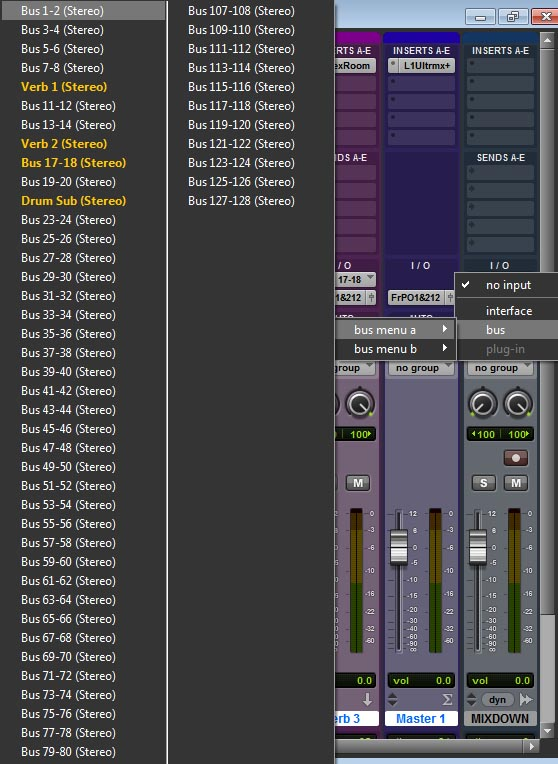 Pro Tools Mix Bus, Brian West Audio