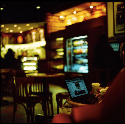 Coffee and a Laptop
