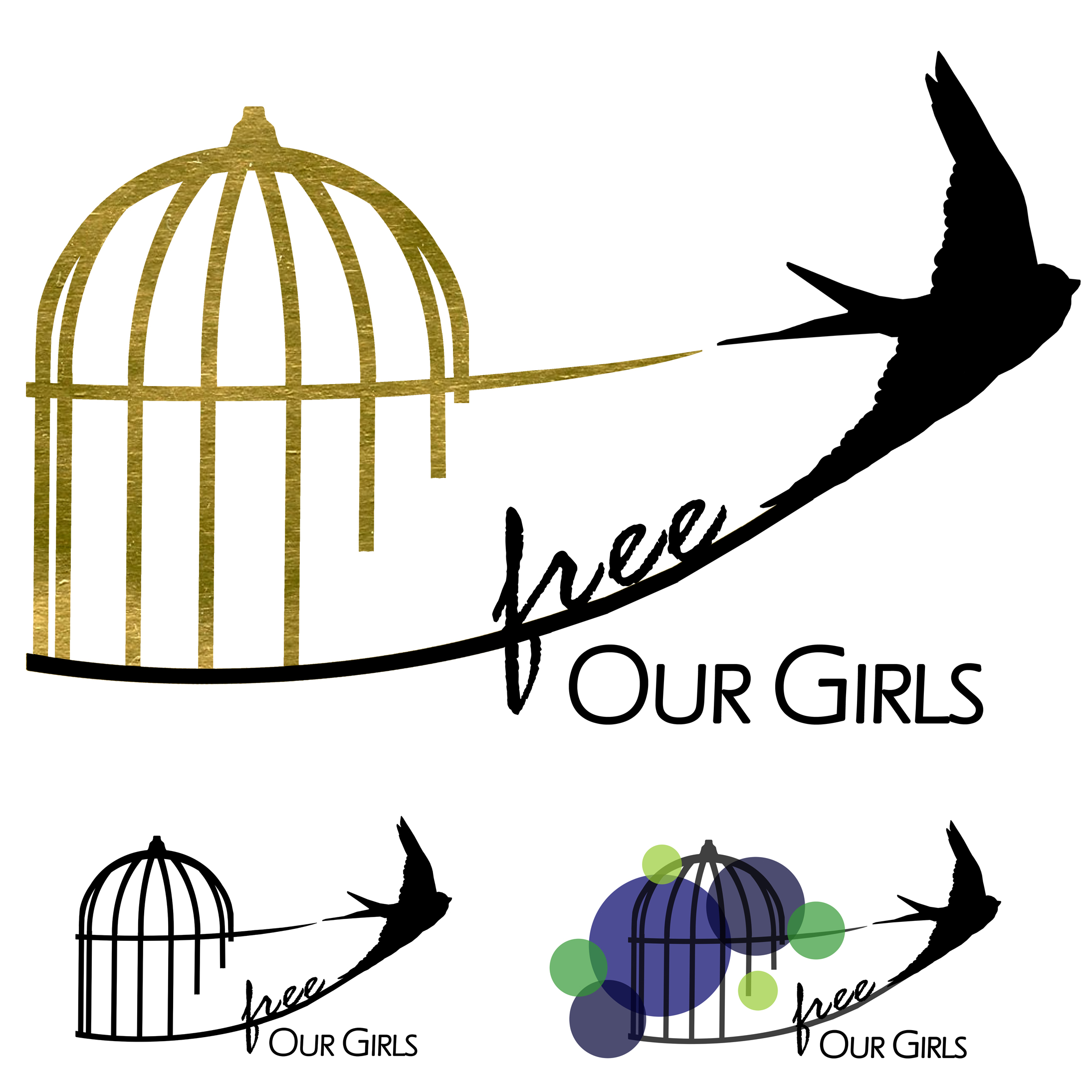 Free Our Girls logo design