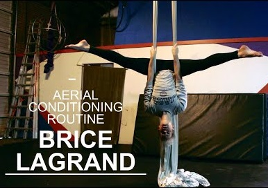 Beginner aerial silks conditioning routine.