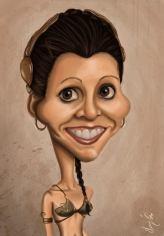 Caricature de Carrie Fisher