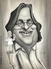 Caricature de Matt Groening
