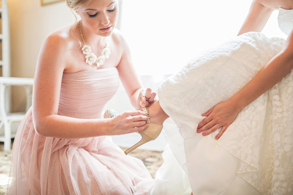 Blush Bridesmaids | Wedding Hair | Bri Cibene Photography | www.bricibene.com